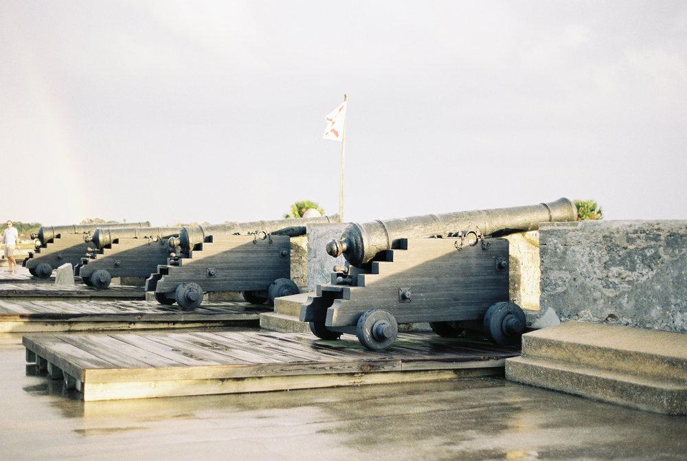 st augustine castillo de san marcos castle fort canons photo
