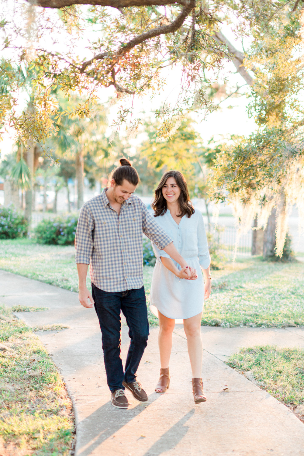 taylor park cocoa village florida natural engagement photos