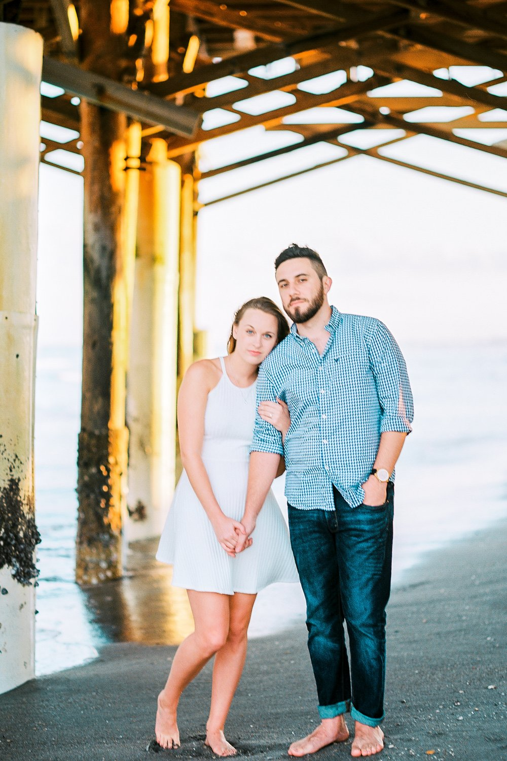 Cocoa beach pier florida engagement photography