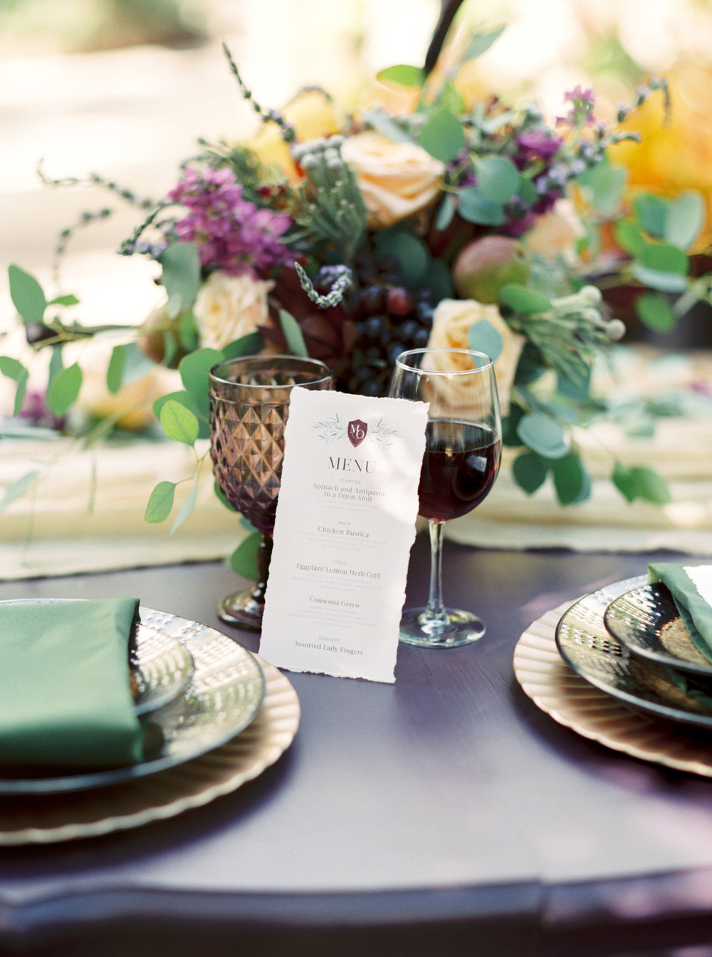 valkaria gardens palm bay FL reception table setting photos