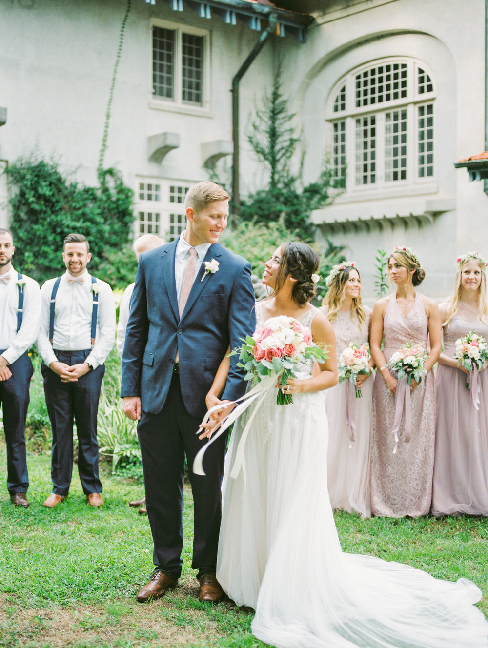 sydonie mansion mount dora orlando fl wedding photos bridal party