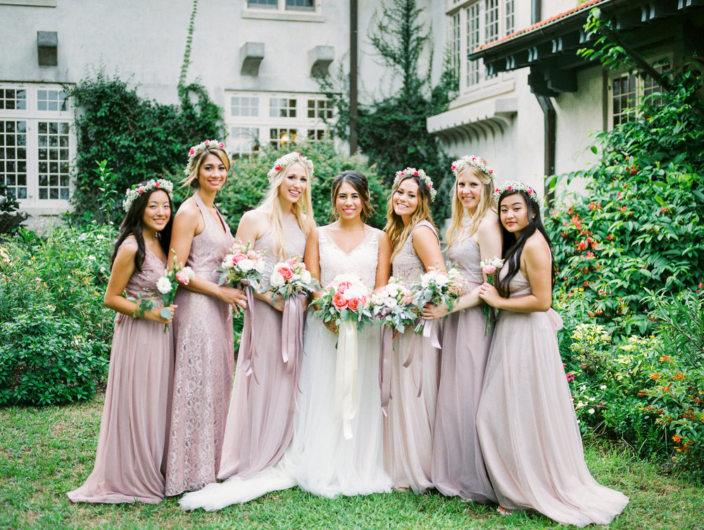 sydonie mansion mount dora orlando fl wedding photos bridesmaids