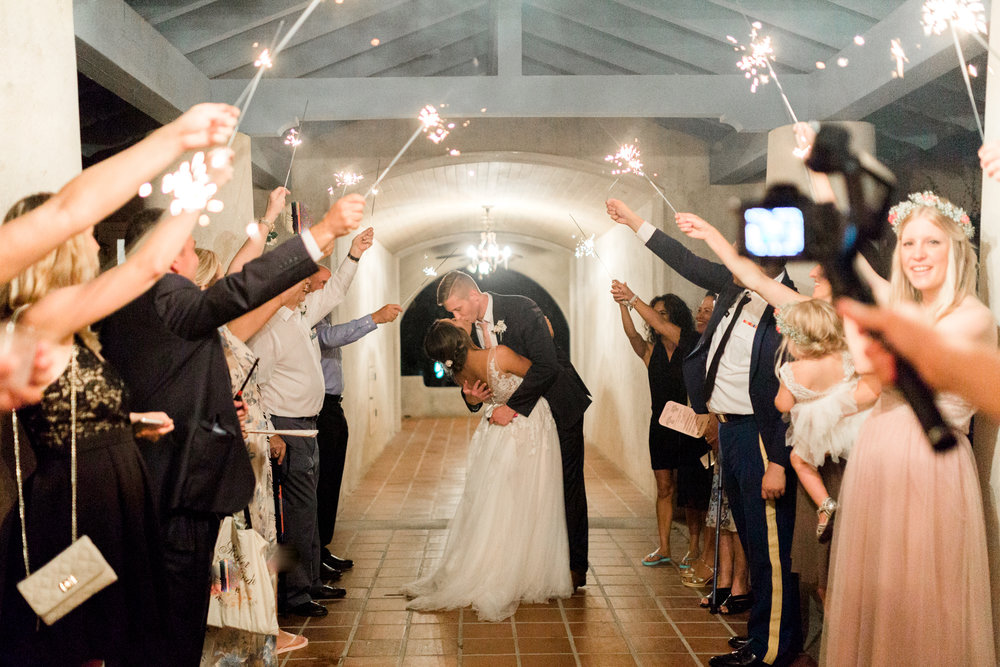 sydonie mansion mount dora orlando fl wedding photos sparkler exit