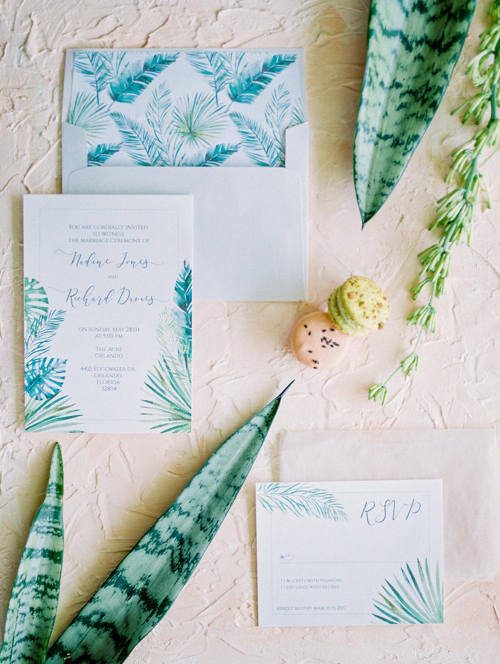 the acre orlando wedding photography bride jessica bellinger photography invitation suite