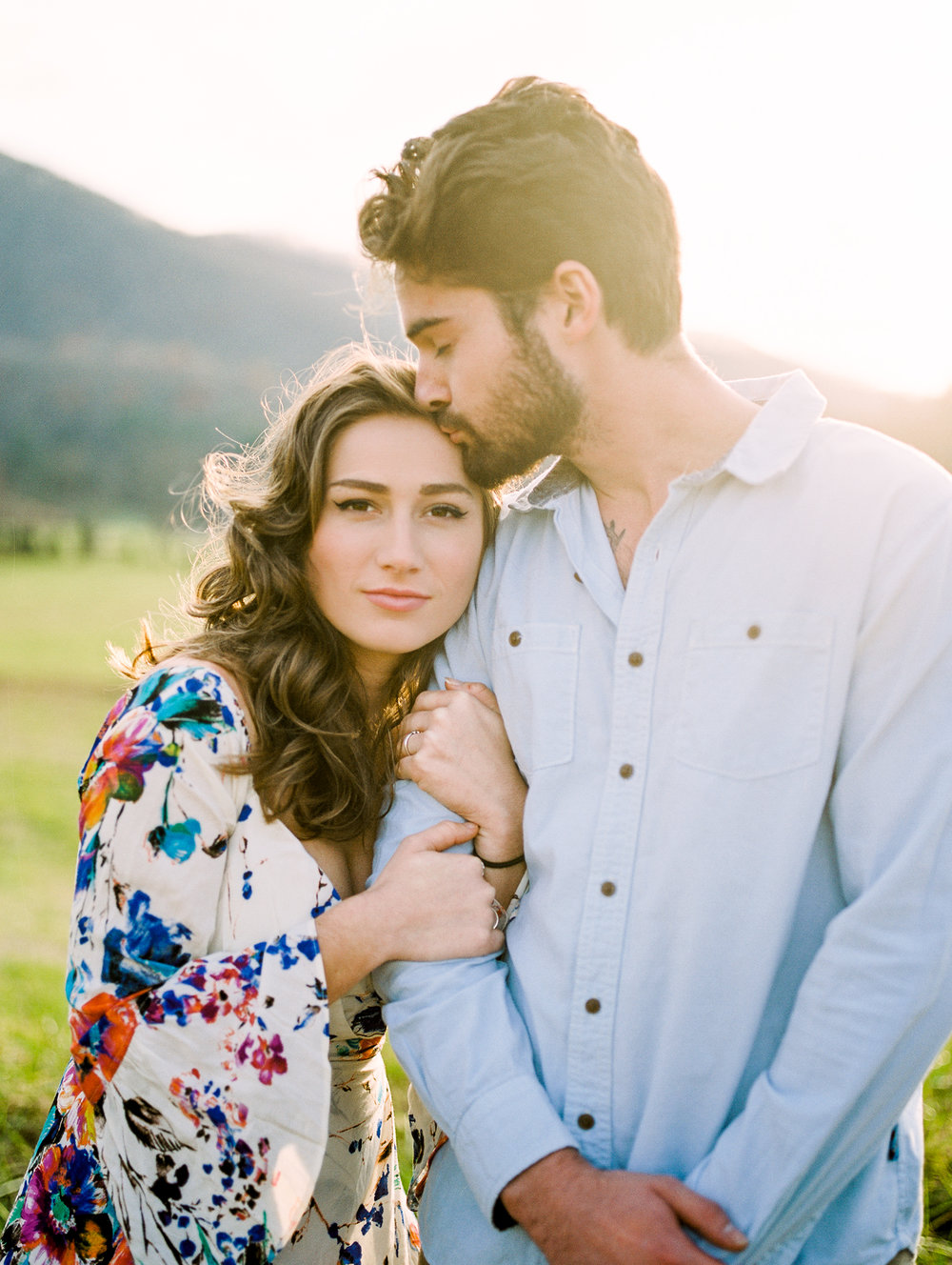 north georgia mountain engagement photos hiawassee