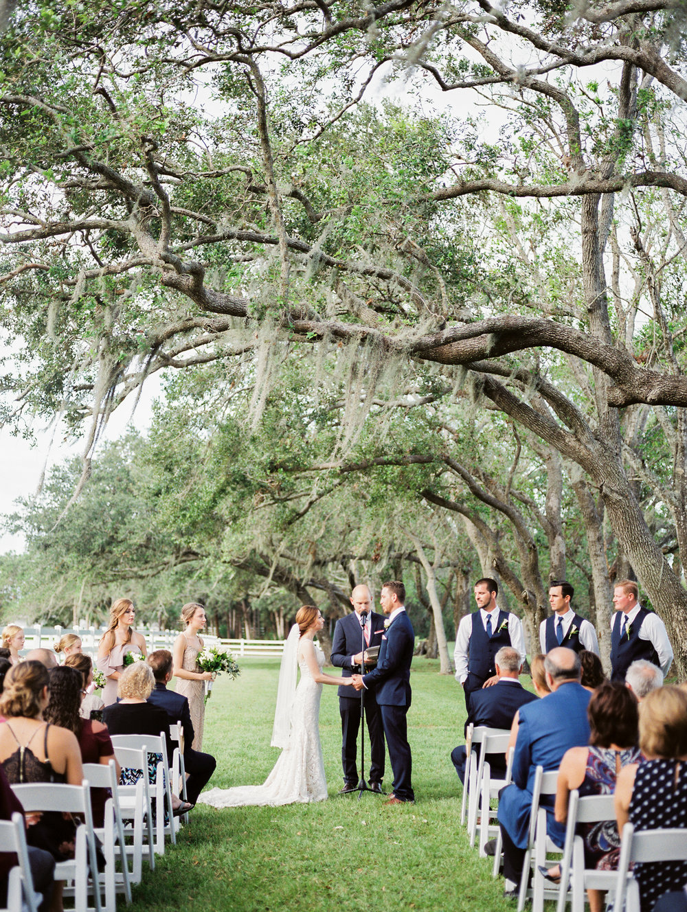 orlando florida wedding photos ceremony jessica bellinger photography mossy oak trees
