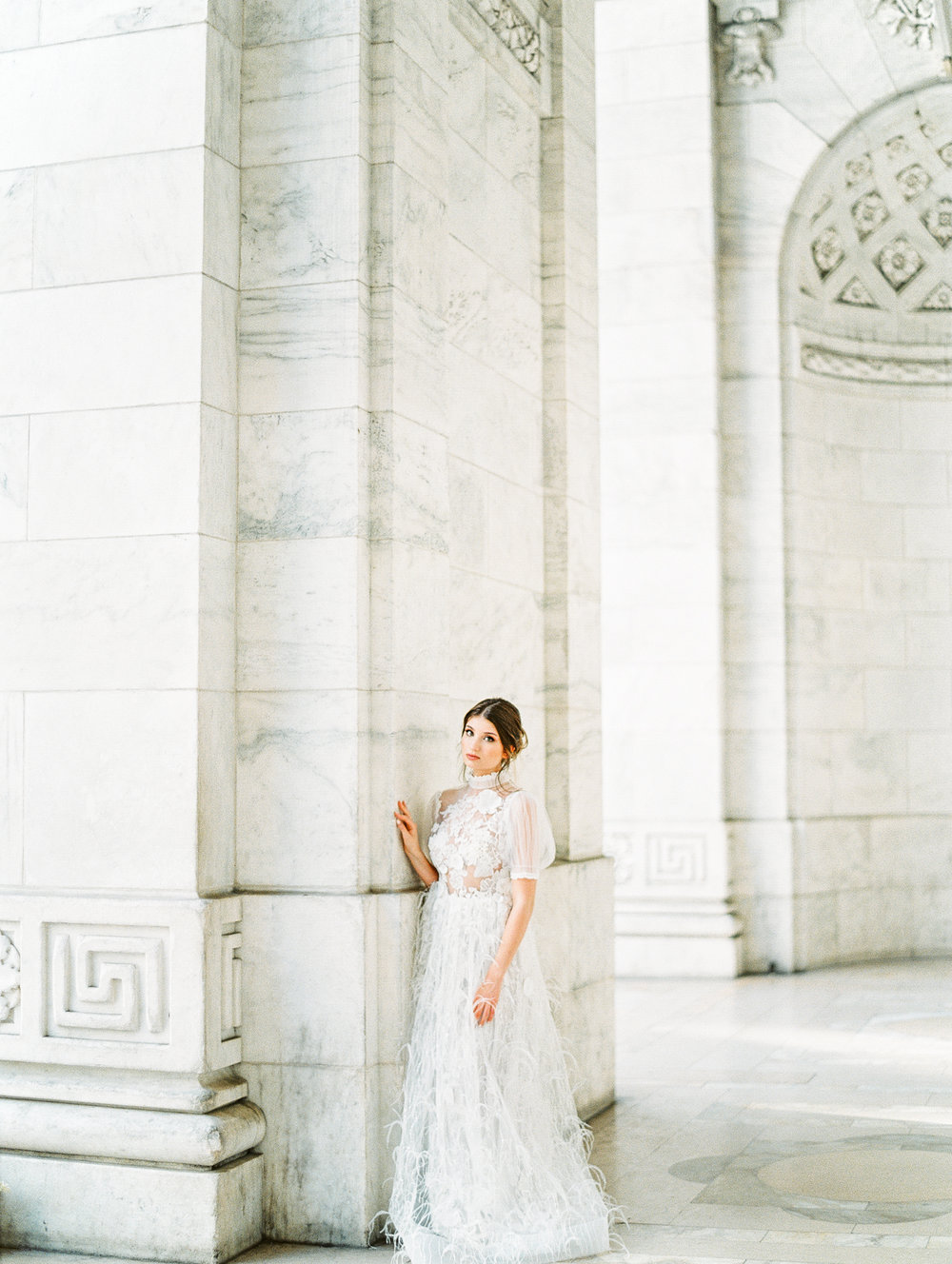 manhattan new york public library bridal wedding film fine art photos