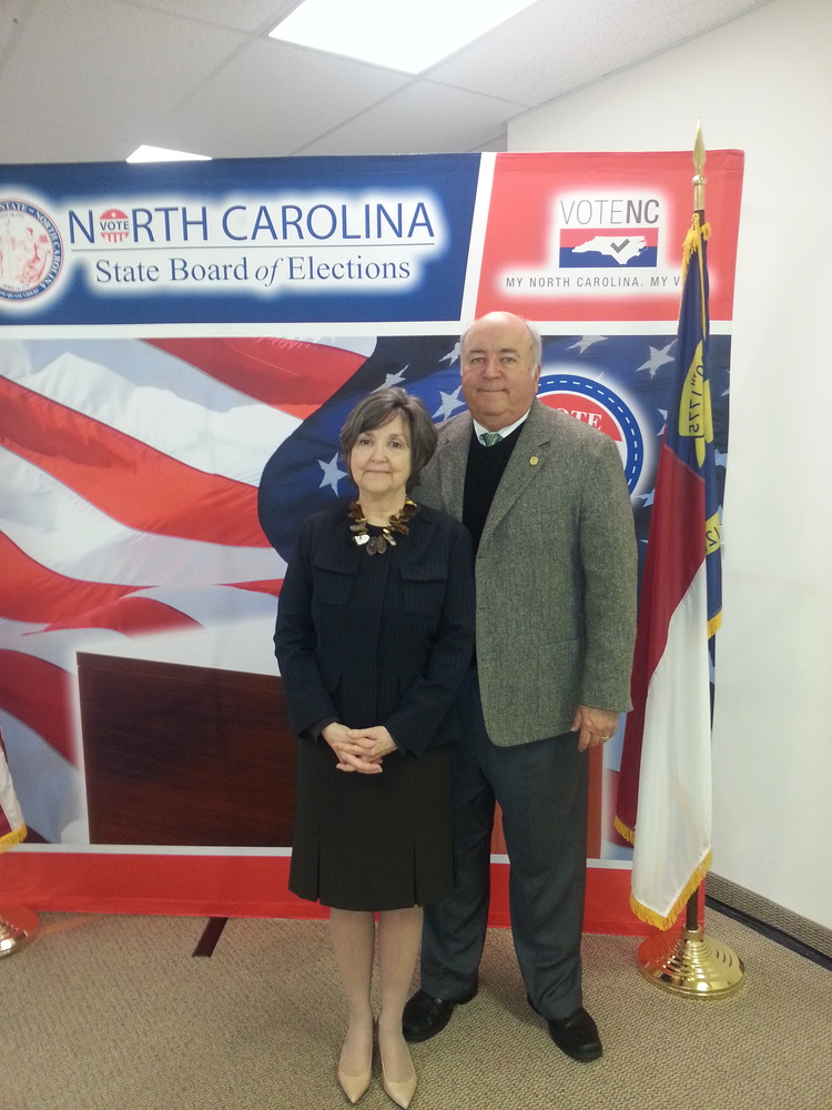 Judge Hunter filing at the North Carolina Board of Elections