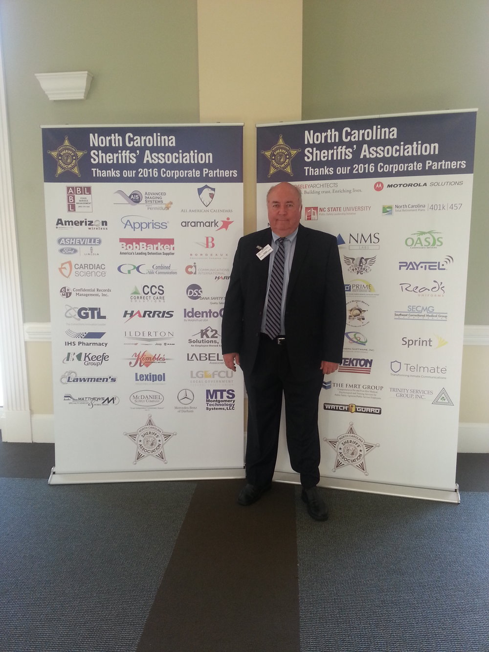 Visiting with the NC Sheriff's Association