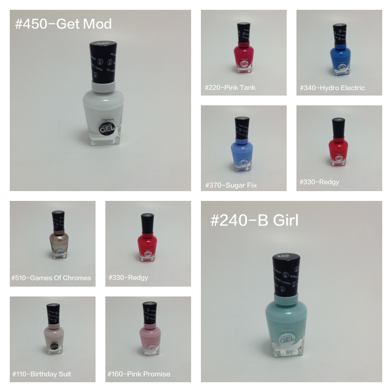 nail polish collage
