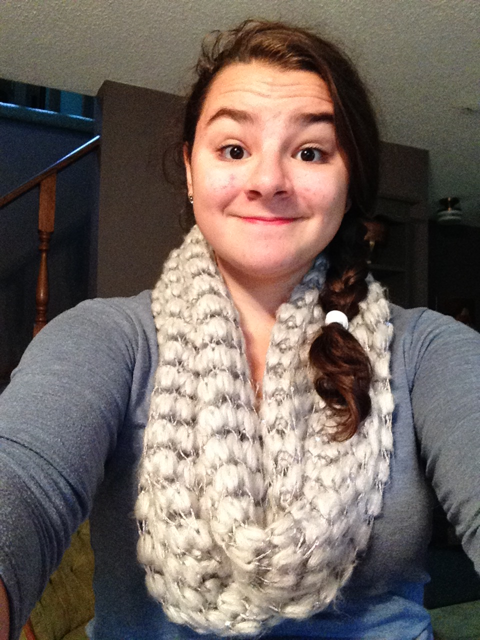 Or when I wanted to document my wearing the first scarf of the season, but the selfie made my arms look ginormous.