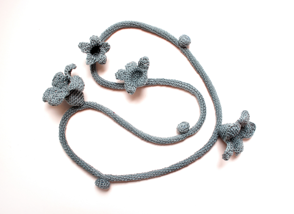 Blue Flower Neckpiece