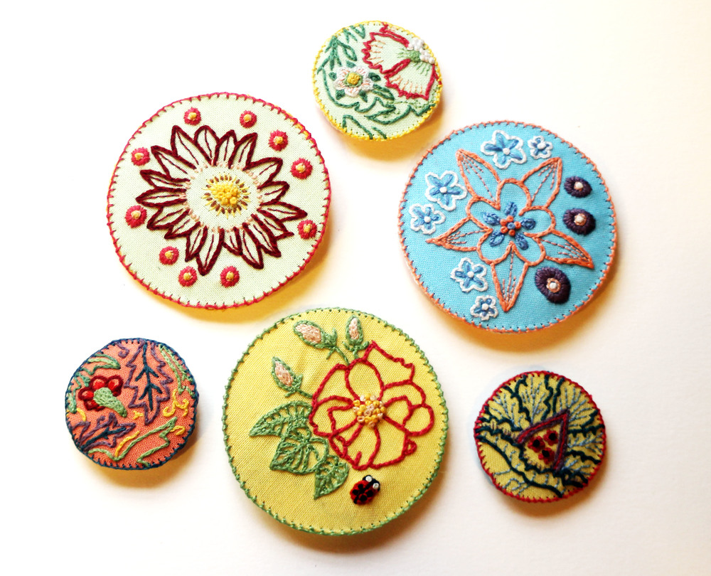 Workshop:textiles archive - William Morris Brooches