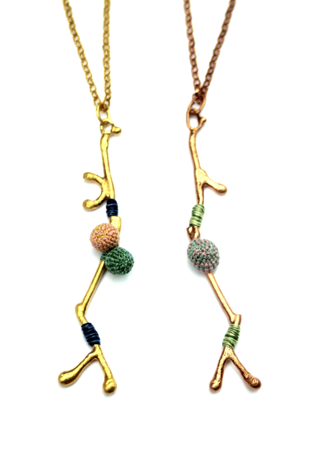 Yellow and Rose Bud Branch Pendants - long.jpg
