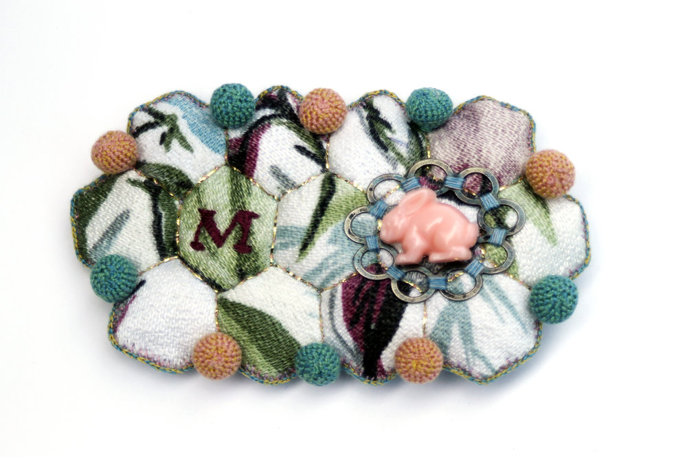 """Sister Brooch – M"", For Louisa May Alcott"