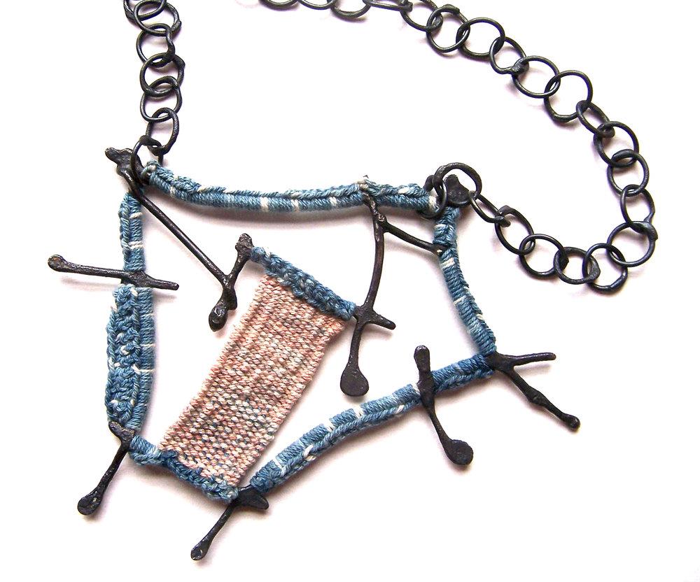 Artifact Neckpiece,  indigo .jpg