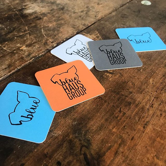 You know we're getting busy. Finally re-upped our business cards. So fun with our in house custom logo. . . . . . #bluehausgroup #cards #business #moocards #realestate #consulting #smallbusiness #sunday