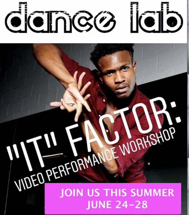"""DO YOU HAVE WHAT IT TAKES?   First things first...your performance quality IS EVERYTHING. How do your faces, movements and emotions convey on stage...better yet, how do they read on camera?   Join master """"emoter"""" and performer Naquan Villega for our    """"IT"""" FACTOR Video Performance Workshop AND Summer Dance Camp   Monday, June 24 - Friday, June 28  10AM-NOON (ages 6-8) ** newly added!!!   NOON-2PM (ages 8-12)  This camp is open level. An awesome concept video will be choreographed, customized for your dancer, and then shared with you so you can blast on social media and rock your friends and family! ;)"""
