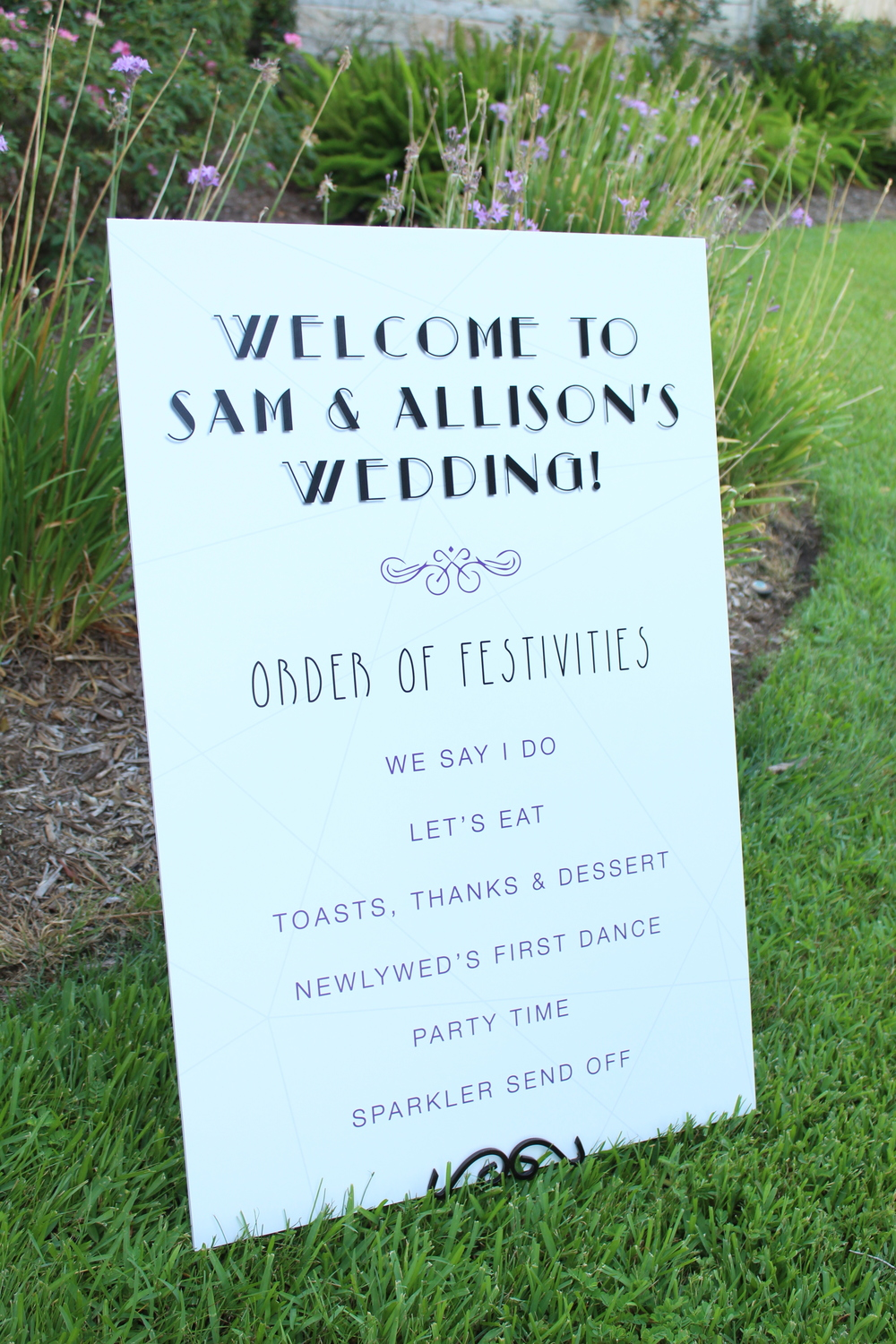 order of events sign