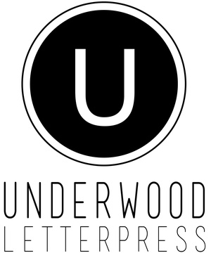Underwood letterpress Logo