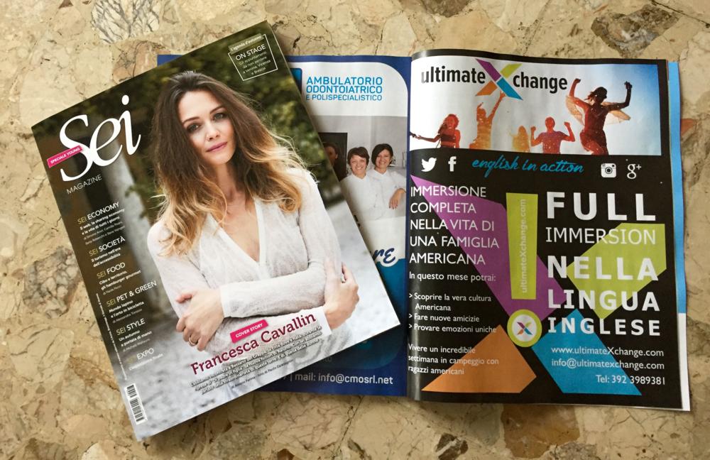 ultimateXchange è stata pubblicitaza nel numero 19 di ottobre 2015 di SEI Magazine