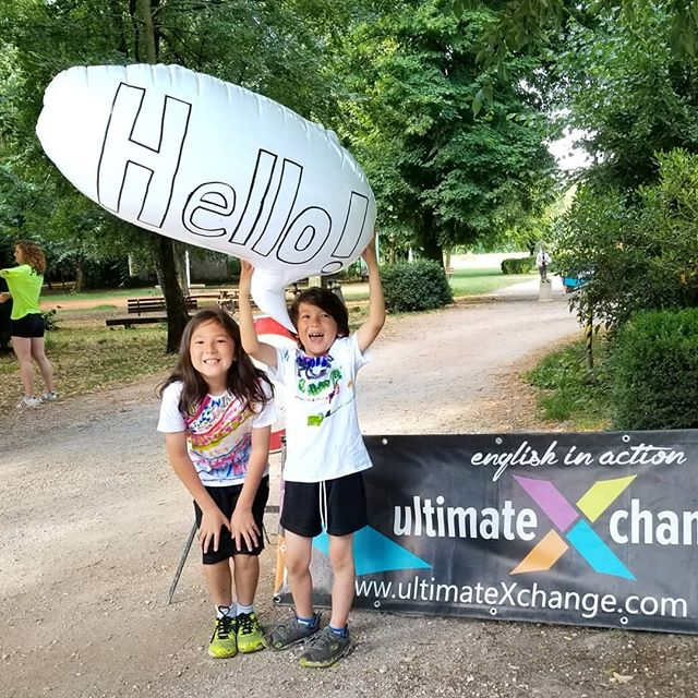 Every morning we're here to welcome our campers! Mateo and Ricardo are showing us how it's done! #ultimateXchange #americanenglishfuncamp #englishinaction