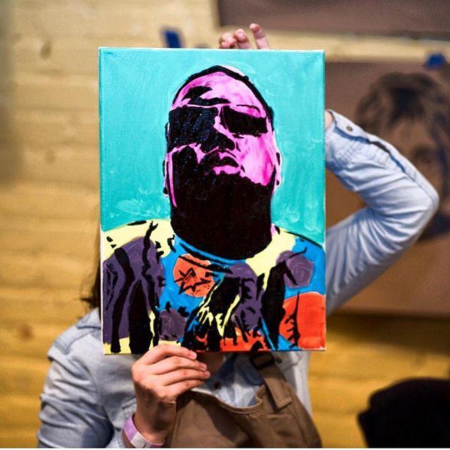 🎨 #HangItDontHideIt Link in bio #ArtsAndCraftEvents #PaintDrinkCreate #rva #Biggie
