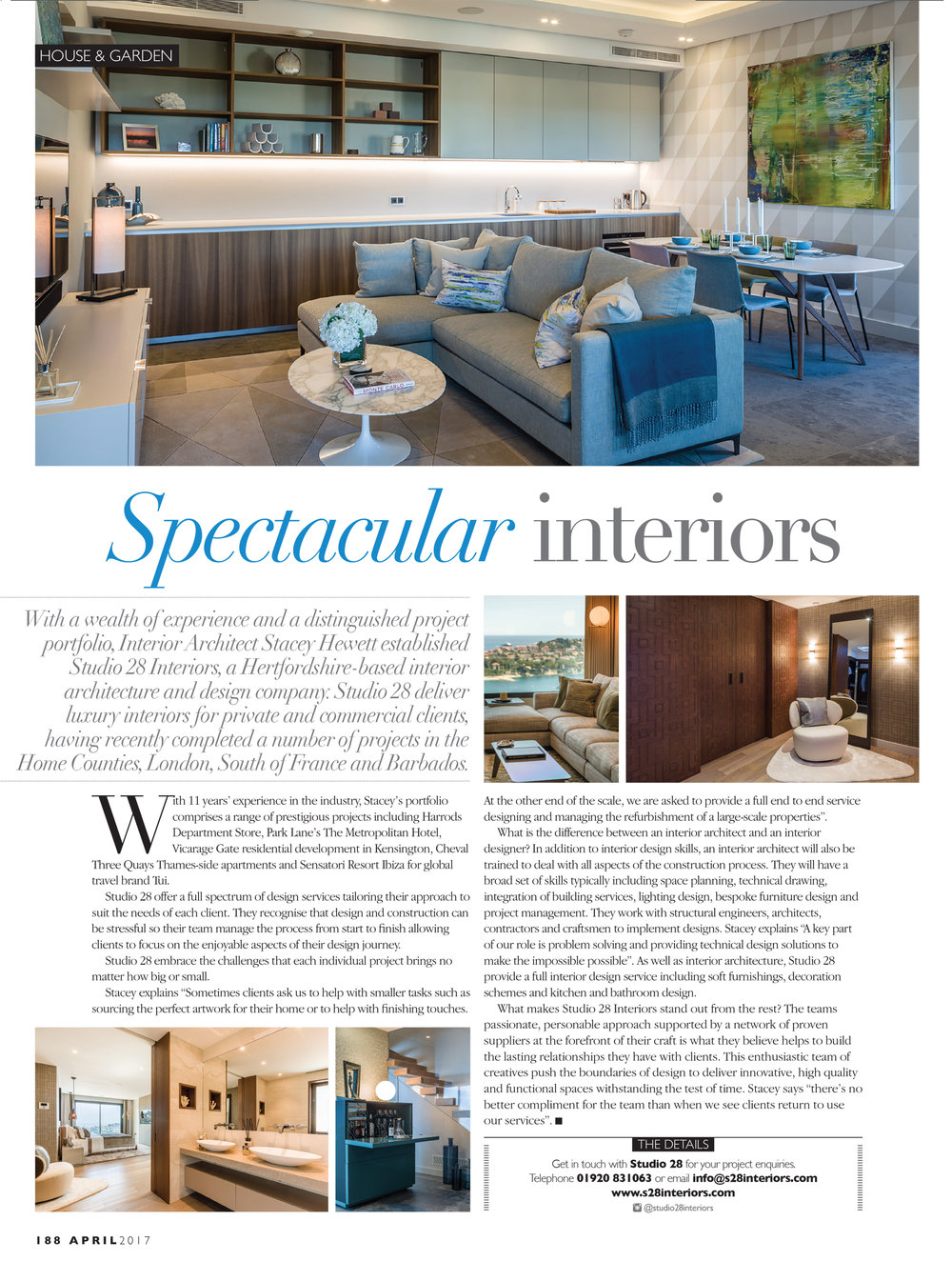 Spectacular Interiors April 2017