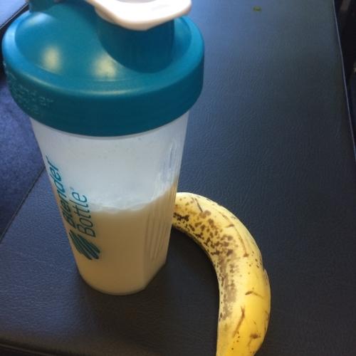 post-workout shake and banana