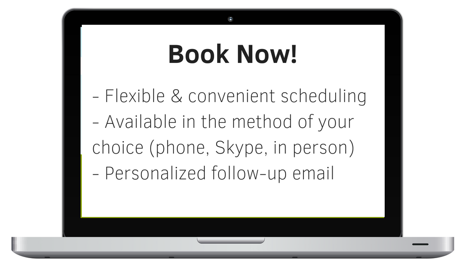 - Flexible & convenient scheduling- Available in the method of your choice (phone, Skype, in person)- Personalized follow up email1 (1).png