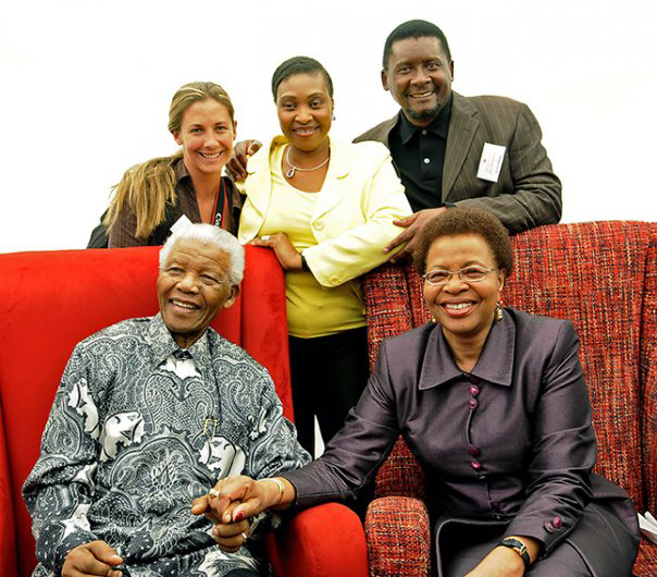 Nelson Mandela by Georgina Goodwin via UBUNTU Blog