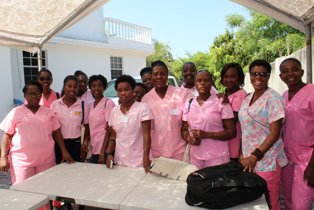 Ready to screen over 70 women in the Petit Goave Community. -
