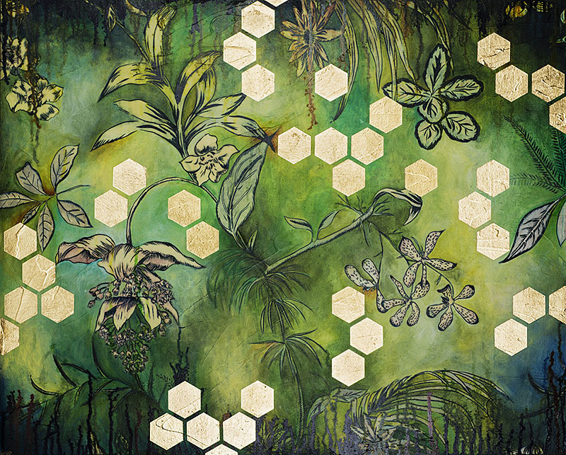 Hexagons (Tropical) (sold)