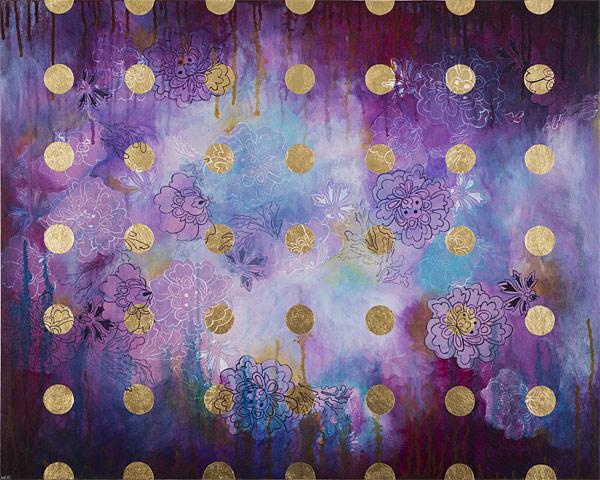 Dots (Violets) (sold)