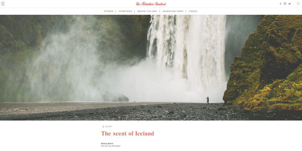 """The Scent of Iceland"" in The Adventure Handbook, May 2016"