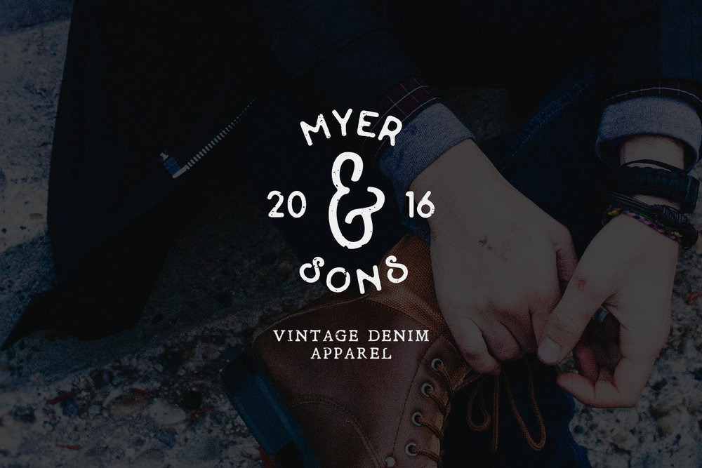 Myer and Sons vintage denim apparel logo