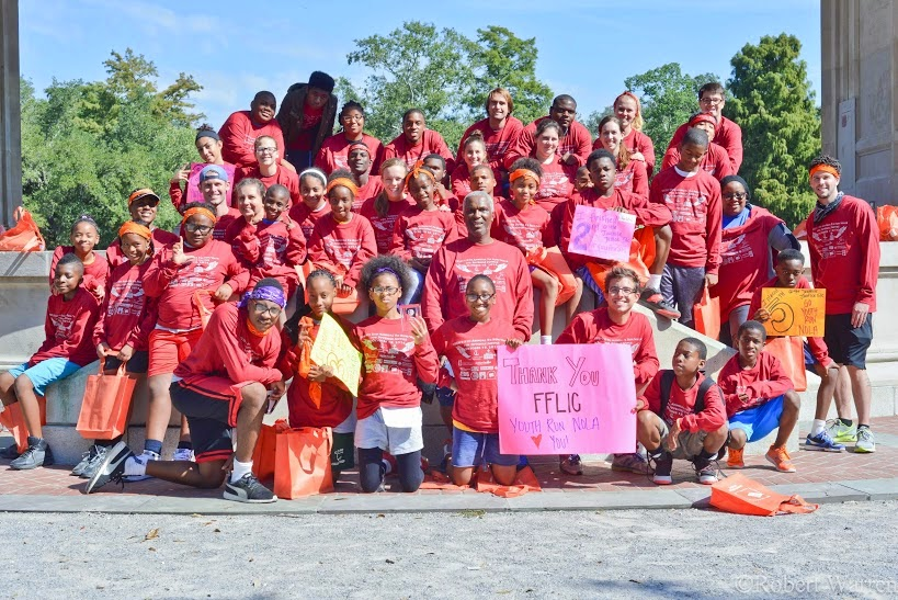 Youth Run NOLA with Members of Families and Friends of Louisiana's Incarcerated Children, CJI Grantee