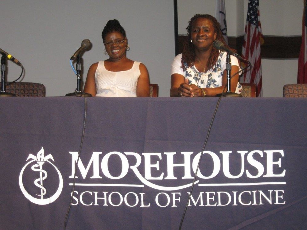 Maxine King and Carole Eady of WORTH at the Morehouse College Mini-Medical Conference, 2010.jpg