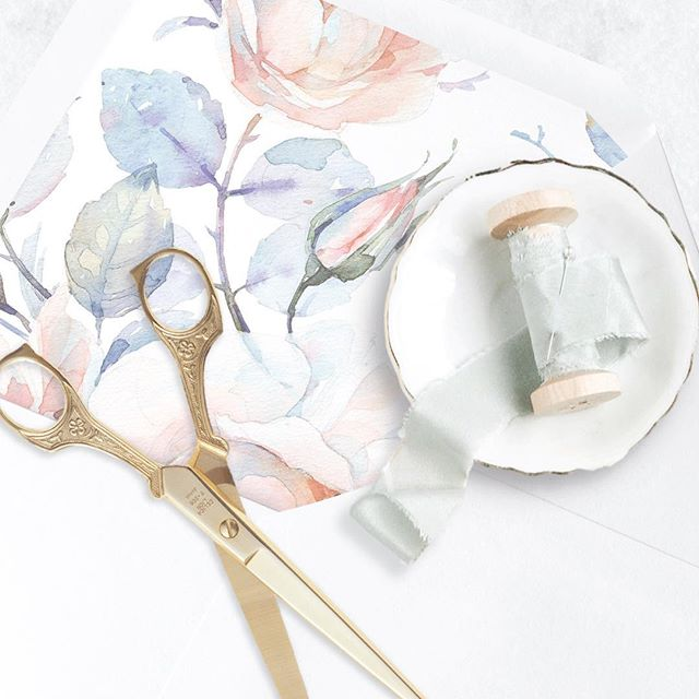 My favorite part of the invitation process - styling with our gorgeous accessories! Absolutely love our new Laurel liner - perfect for our new Spring 2018 brides! xo #droletpaperie #itsallinthedetails#envelopeliner #silkribbon #paperstyling#weddinginvitations #letterpress #foilstamping