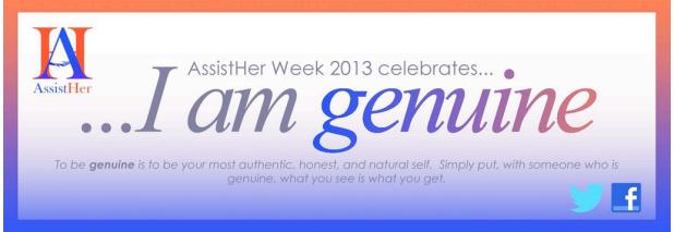 Assist Her, Inc. | Assist Her Week 2013 Social Media Outline