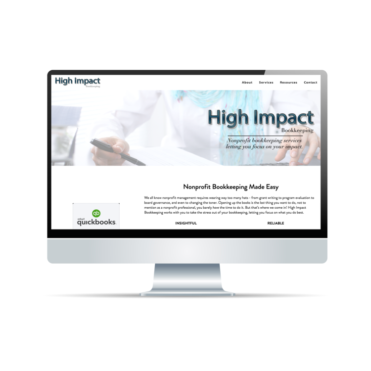 High Impact Bookkeeping - Home Page Web Design | Logo Design | Brand Strategy | MailChimp Email Campaigns |https://www.highimpactbookkeeping.com