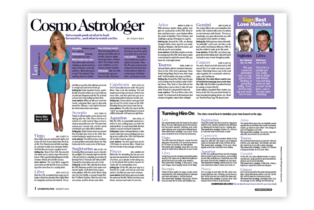 Cosmo Astrologer spread