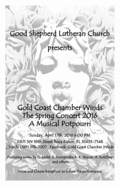 Designed by Frank Molano, founder of Gold Coast Chamber Winds