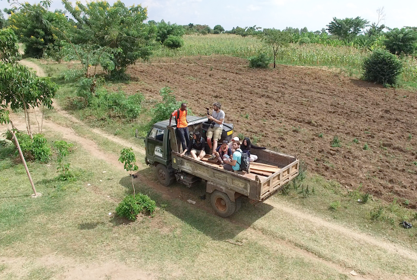 The Nutrition Team arriving at Putti Village with materials for our water catchment system, chicken coop and CSA Garden.