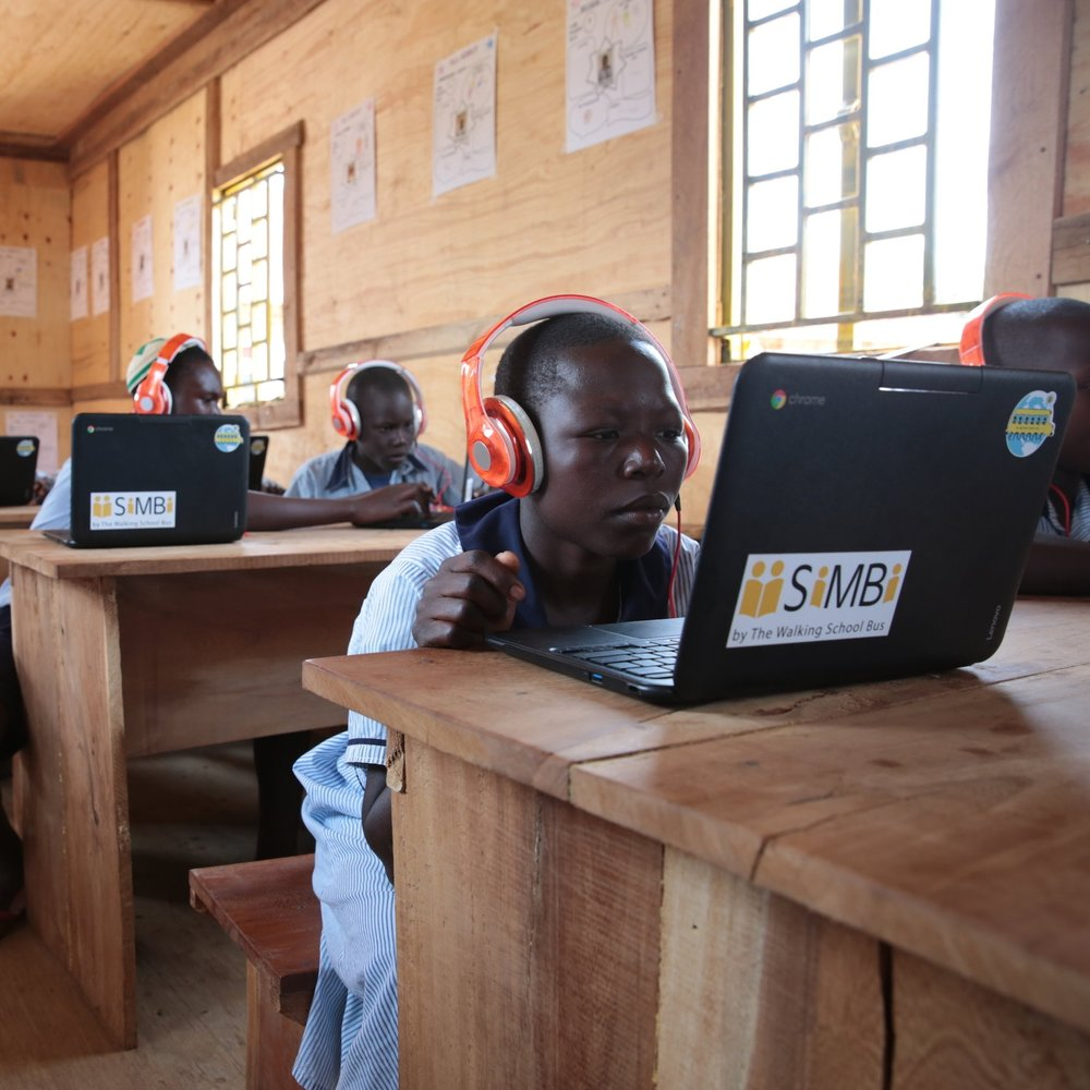 Students at Yonatan Netanyehu Memorial School studying in their new Solar Power Classroom