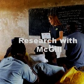 Research with McGill University