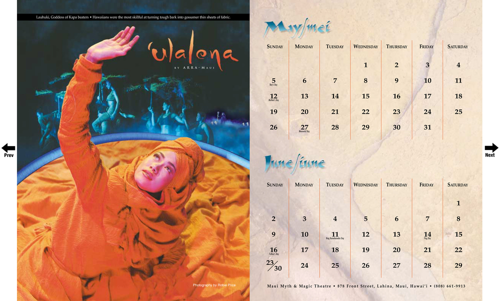 Ulalena Calendar   Ulalena was created by former Cirque du Soleil members and is visually similar.