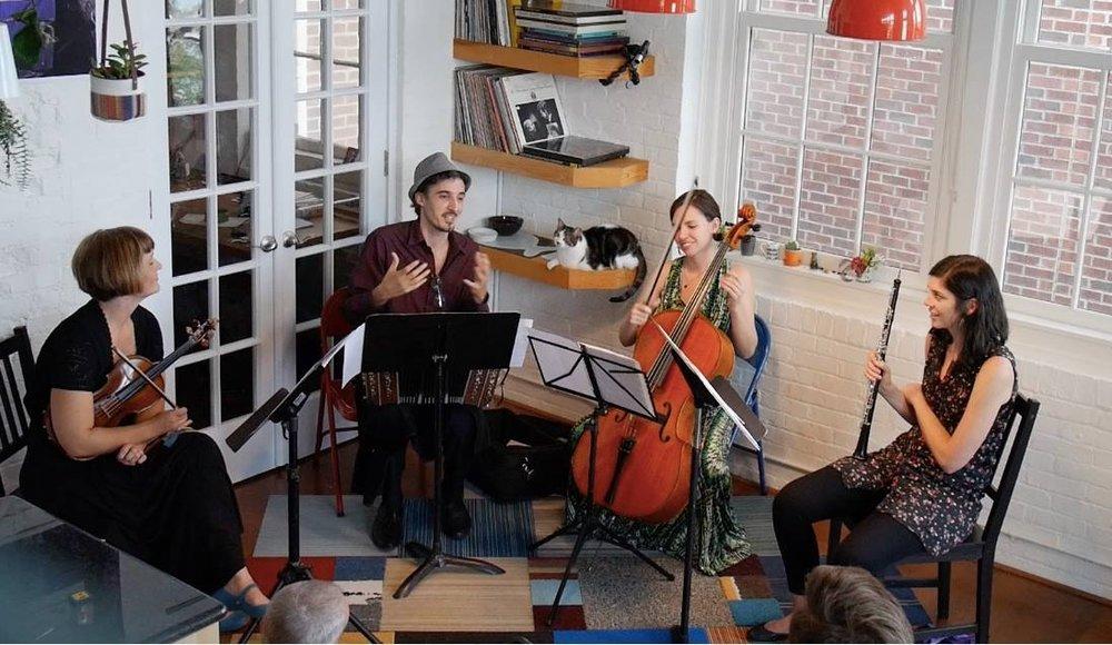 Jamie Roberts, NSO Oboist  Christina Wensel, Violin