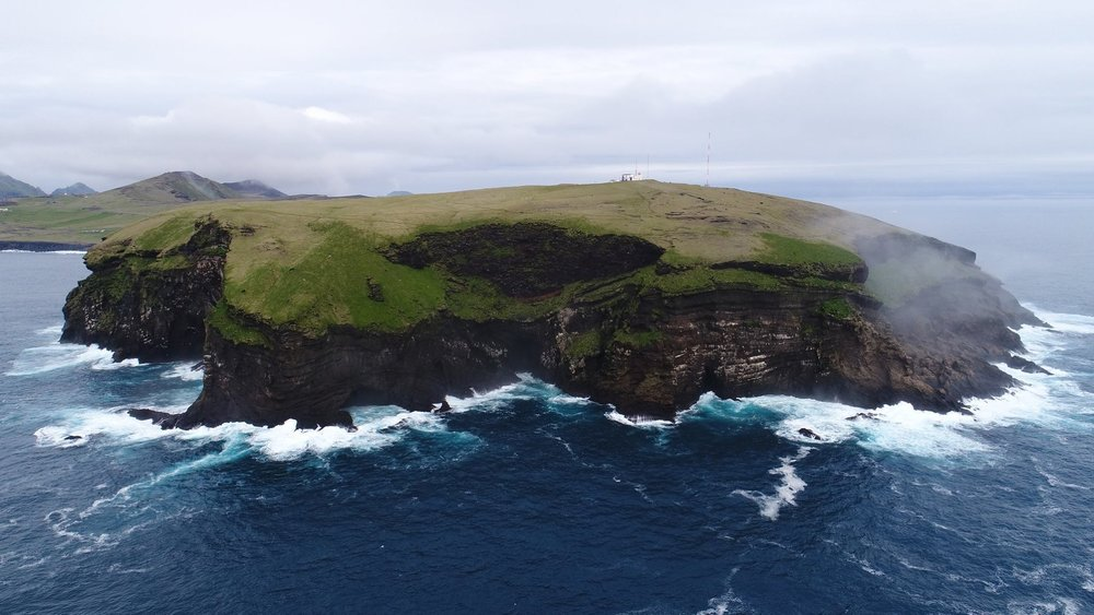 Aerial Photo in Vestmannaeyjar in Iceland (Westman Islands)