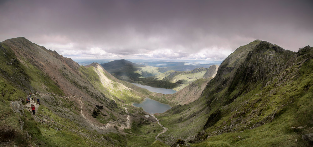 View From Mount Snowdon, Snowdonia National Park